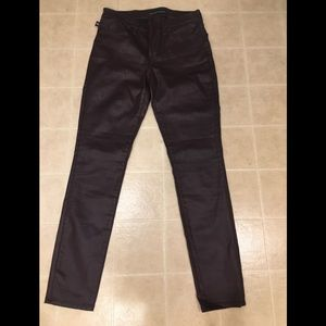 Rock & Republic faux leather jeans